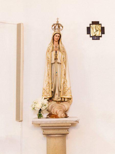 Religious statue in Loule Algarve Portugal
