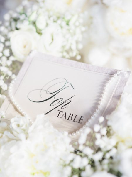 Elegant and stylish table name decor Quinta Do Lago Algarve Portugal