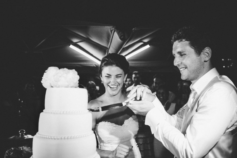Bride and Groom cutting cake Quinta Do Lago Algarve Portugal