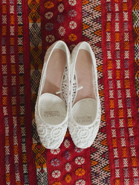 Flat off white wedding shoes alternative bride
