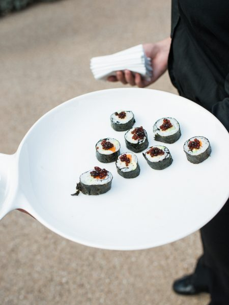 Sushi wedding canapé at Fulham Palace London