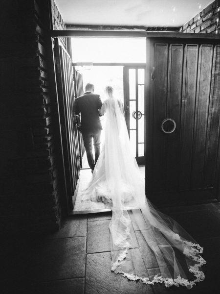 Bride and Groom exit Sjømannskirken Kong Haakons Kirke