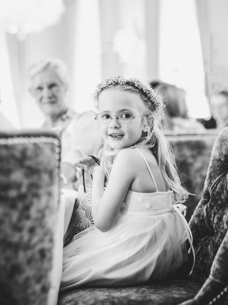 Sweet flower girl portrait Kokkedal Slot Copenhagen