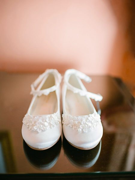 Flower girl shoes Wilshire wedding day