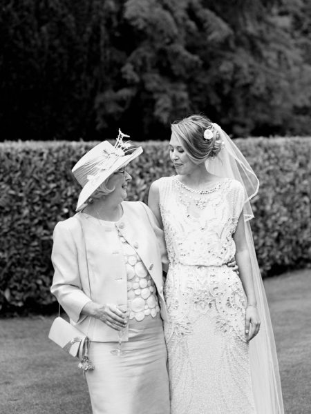 Bride and mother portrait Larmer Tree Gardens