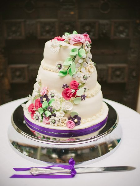 Floral Wedding cake Larmer Tree Gardens