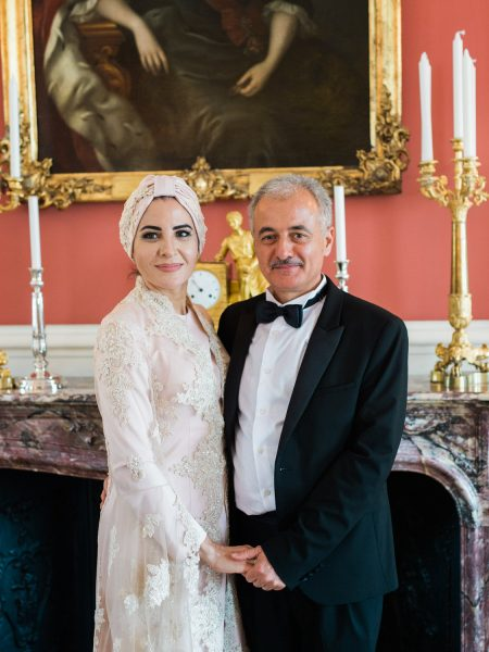 Glamorous guests in black tie Sølyst Copenhagen