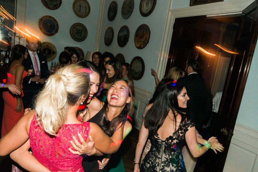 Wedding guests go wild on the dance floor at Solyst Copenhagen