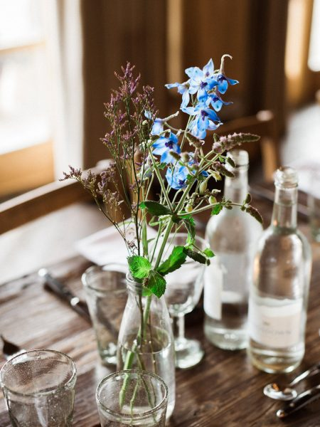 Table setting detail Soho Farmhouse wedding Oxfordshire