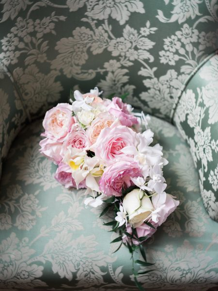 Pastel flower wedding bouquet by Fabulous Flowers at Weston on the Green Oxfordshire