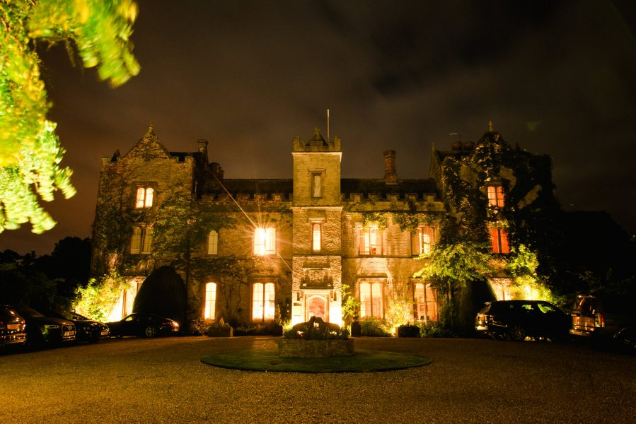 Weston on the Grenn Manor Manor wedding venue at night